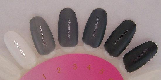 vernis ongles mat en blanc noir gris clair au fonc matte yes love. Black Bedroom Furniture Sets. Home Design Ideas