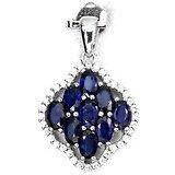 Pendentif Saphir bleu Argent 925 + Chaine