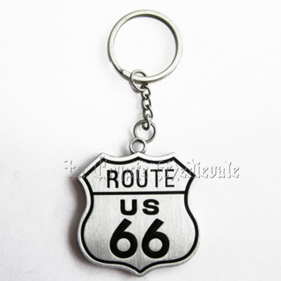 Porte clef route 66 bikers usa motard harley for La porte usa
