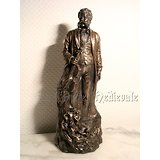 Statue Johann Strauss/style bronze/Compositeur/Musique