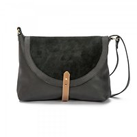 Aky large - Grand sac besace // Noir