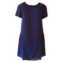 Montélimar - Robe rétro à pois // Bleu