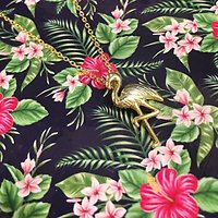 Flamingo - Collier fantaisie // Doré
