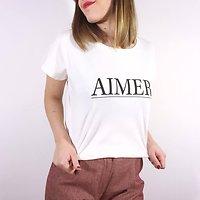 Aimer - Tshirt en coton // Écru
