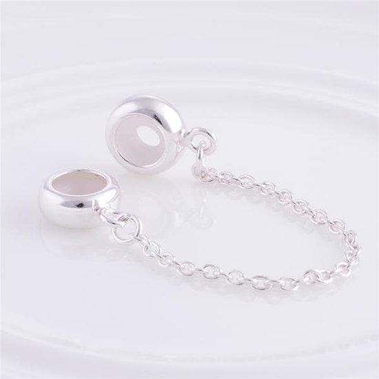 Chaine de s curit pour bracelets charm charms en argent - Chaine de securite pour porte ...
