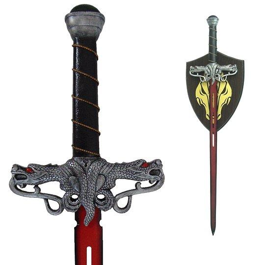 Epée dragon lame rouge