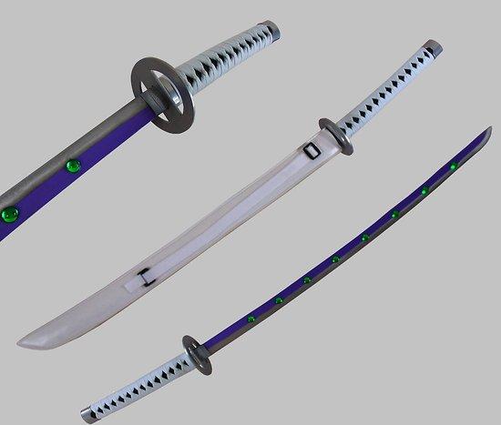 Katana Shura's Demon (sabre blanc avec cristaux)