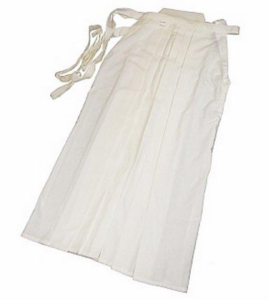 Hakama blanc poly/rayon