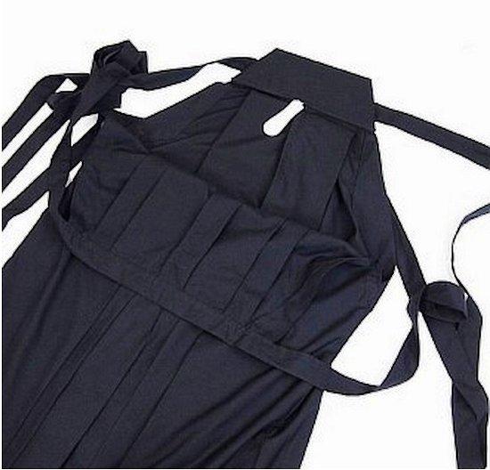 Hakama noir poly/rayon