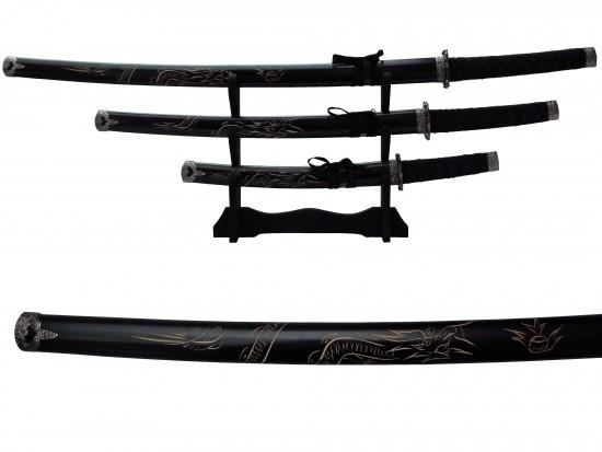 Ensemble 3pcs dragon noir