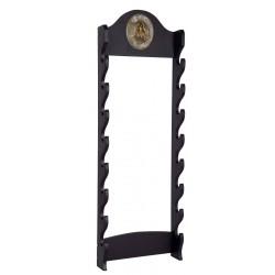Support pour katana en bois noir muraux places - Hyperprotec