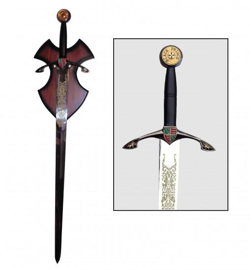 Epée Black Prince avec support
