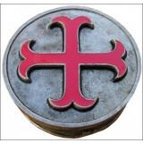 Boîte templière rouge
