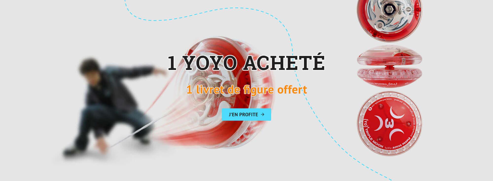 1 yoyo acheté = 1 livret de figures offert