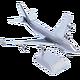 Boeing 747 métal poli