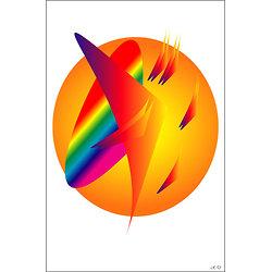 POSTER - LA LUMIÈRE   (format:  90 x 60 cm)