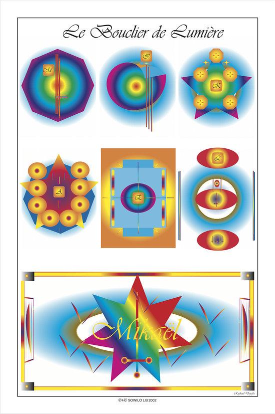 POSTER - LE BOUCLIER DE LUMIERE  (format: 90 x 60 cm)