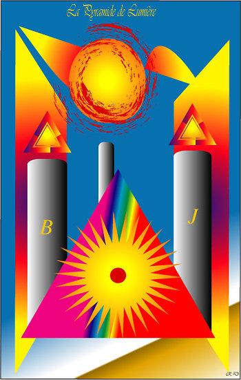 POSTER - La Pyramide de Lumière (format:  90 x 60 cm)