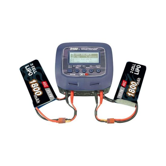 Chargeur DUO D100 v2 AC/DC 1-6S 2x100W bluetooth 12V/220V