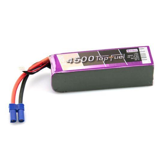 Batterie TopFuel Eco-X lipo 4S 14.8V 4500mAh 20C prise EC5 - Hacker Motor -