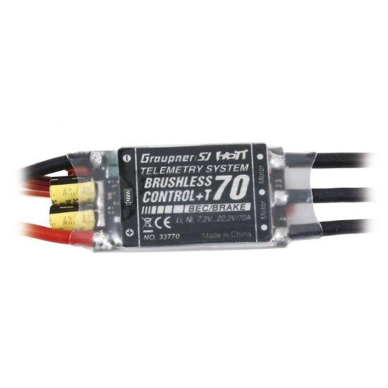 Contrôleur Brushless 70A Prise XT60 + télémétrie BEC 5.0-8.0V Graupner