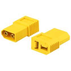 Adaptateur court jaune XT60-D : XT60 male