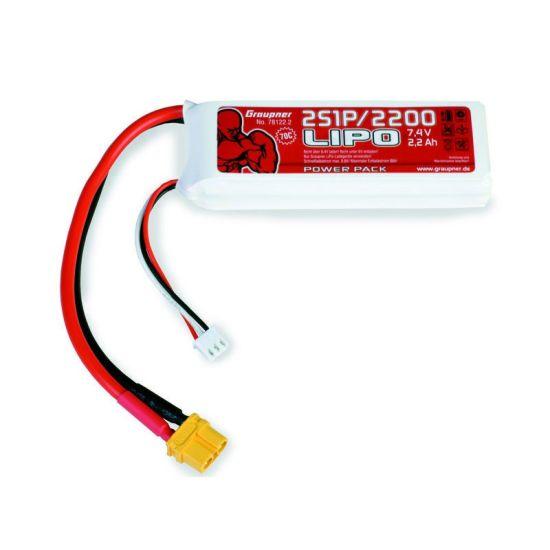 Batterie Power Pack LiPo 2S/2200 7,4 V 70C XT60