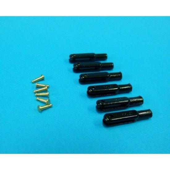 Chape nylon M3 AXE métal 2,5mm (noir) MP JET