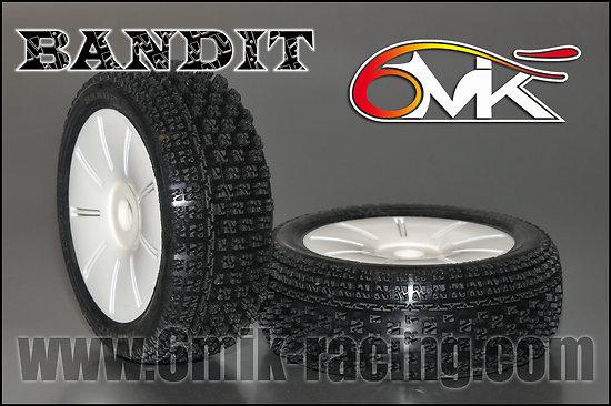 Pneus BANDIT 0-18° + inserts + jante blanche (la paire)