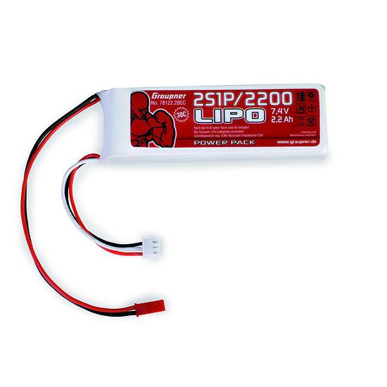 Batterie LiPo 2S 2200mAh 7,4V BEC