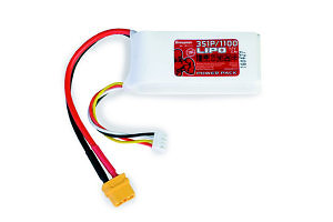 Batterie LiPo 3S 1100mAh 11.1V 70c XT60
