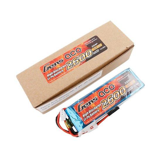 Batterie Rx 2S LiPo 7.4V-2600 mAh (prise JR)