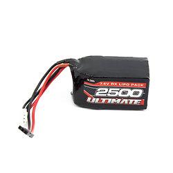 Batterie Rx 2S LiPo 7.4V-2500 mAh (prise JR)