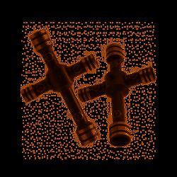 Mini clé en croix 4 : 5 : 5.5 : 7 mm Team C