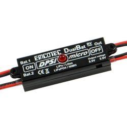 Alimentation double DPSI Micro DualBat 5.9V/7.2V MPX Emcotec