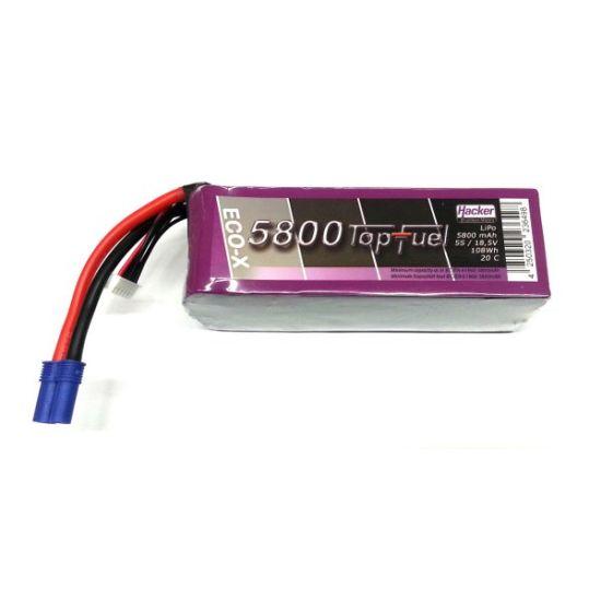 Lipo 5S 18.5V 5800mAh 20C TopFuel Eco-X l