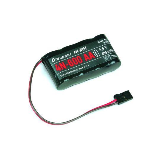 Batterie 4,8V 600mAh 2/3AA NiMh Graupner
