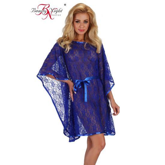 Déshabillé Poncho Bleu