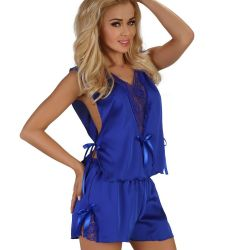 Top et Short Bleu