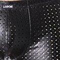 Boxer Noir aspect Vinyle à Trous