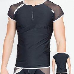 TShirt Noir Bi Matière