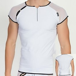 TShirt Blanc Bi Matière