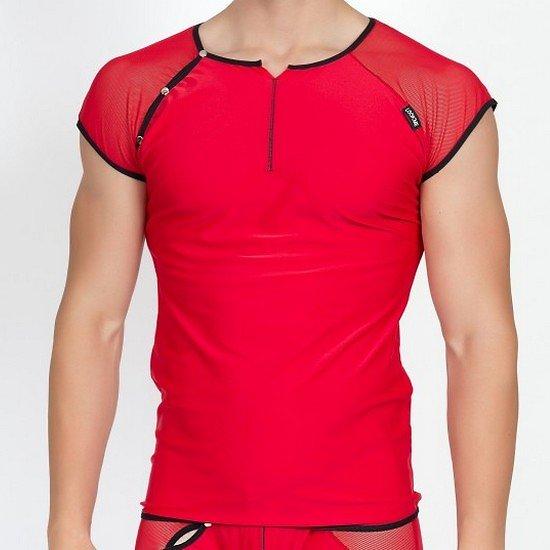 TShirt Rouge Bi Matière