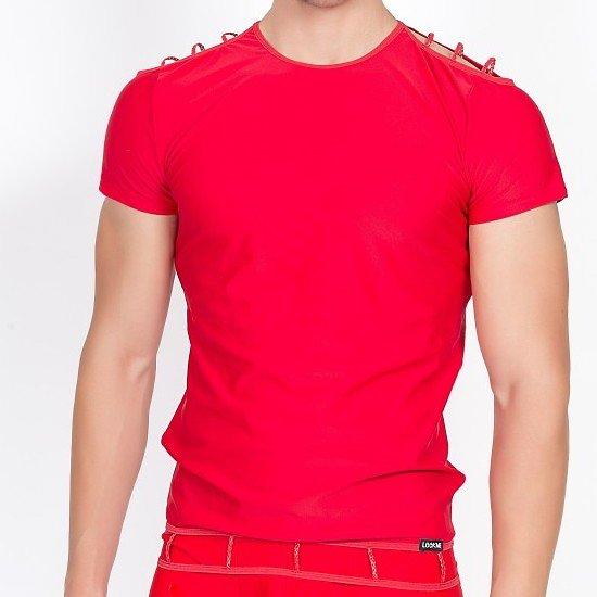 TShirt Rouge ajouré aux Epaules