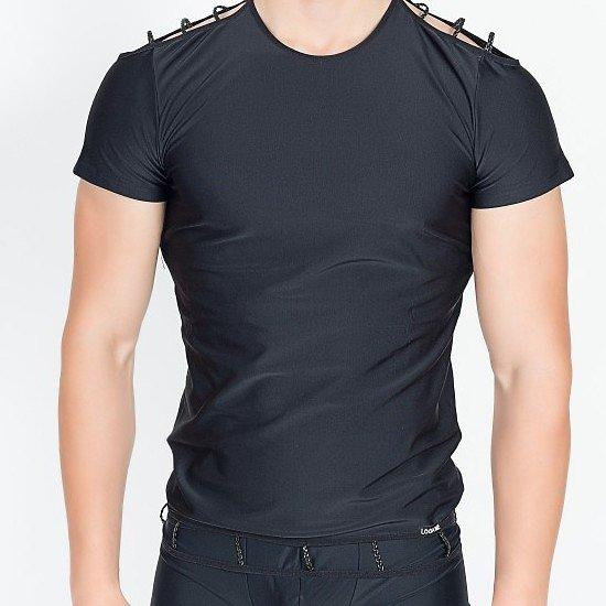 TShirt Noir ajouré aux Epaules