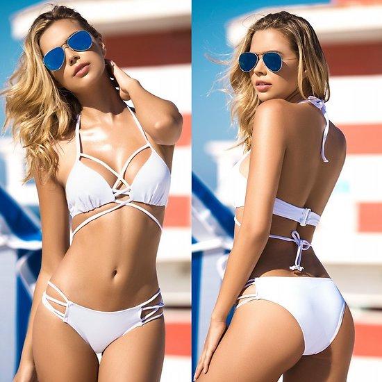 Bikini à Lanières Blanc
