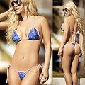 Bikini String Bleu