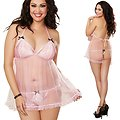 Nuisette Rose Grande Taille