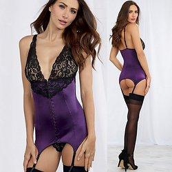 Guêpière Violette et Noire