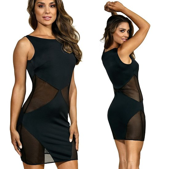 Robe Noire Triangles Transparents